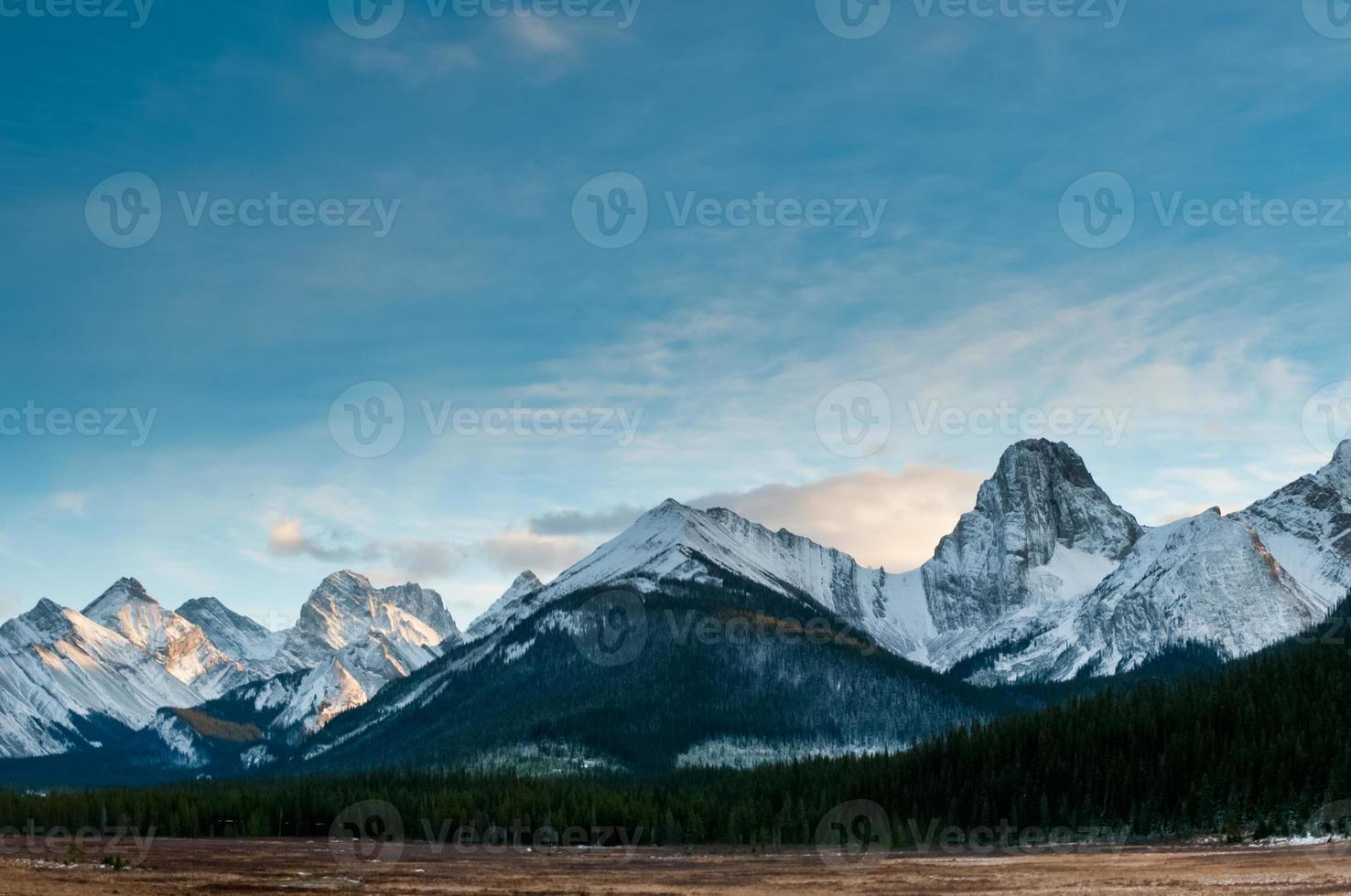utsikt över bergen foto