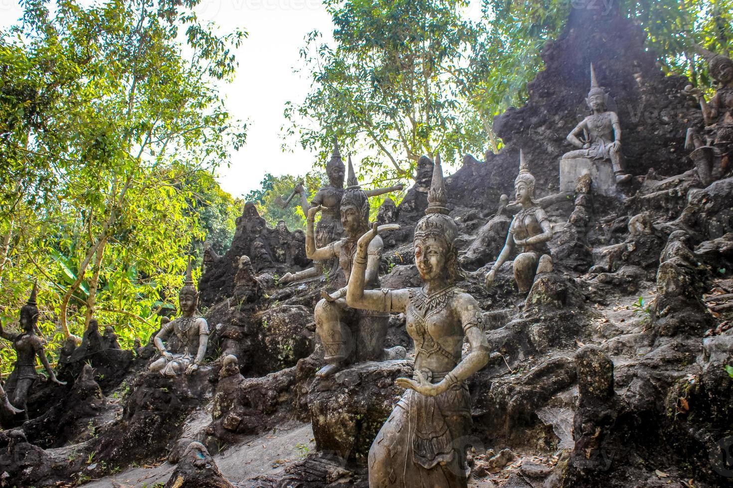 magisk trädgård i Koh Samui foto