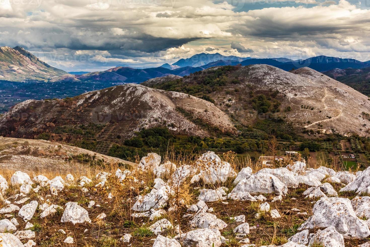 landsbygdens berg foto