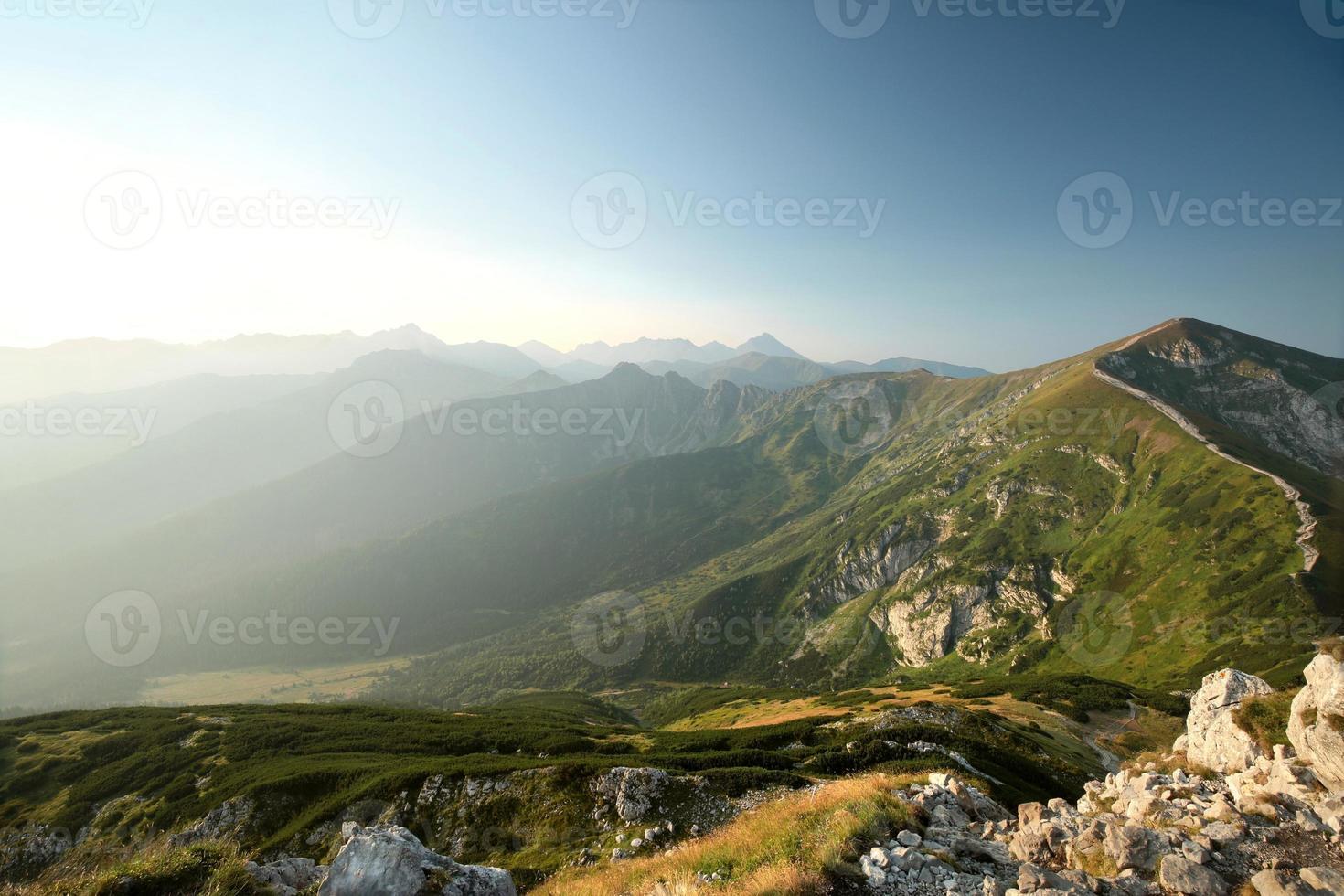 Tatrabergen vid soluppgång foto