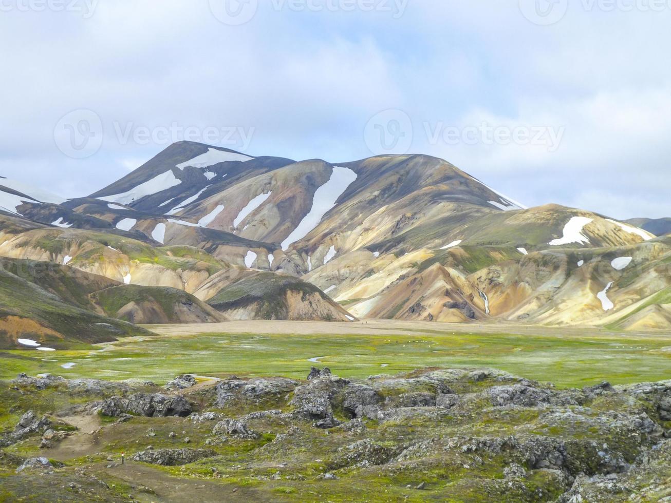 bergslandskap i Island foto