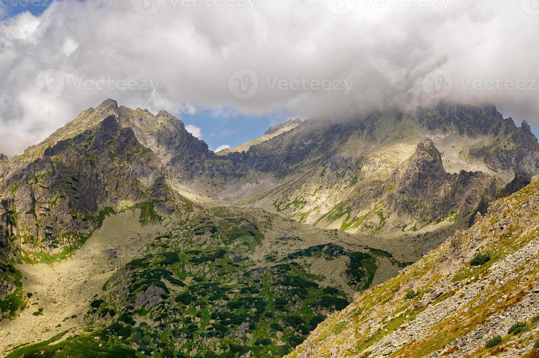 berg på sommaren foto