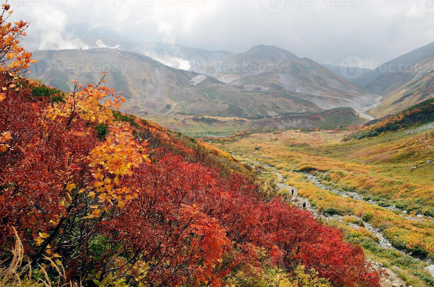 höstfärger, tateyama, japan foto