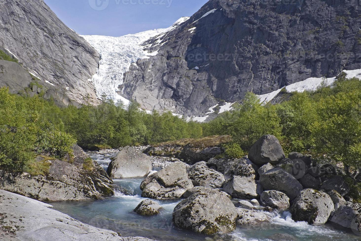 briksdalsbreen glaciär, norge foto