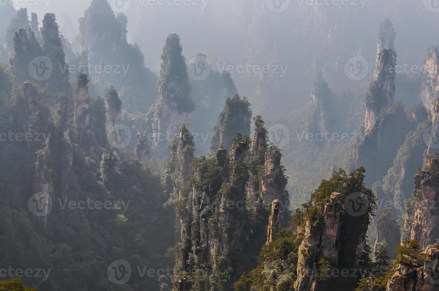 zhangjiajie nationella geologiska skogspark foto
