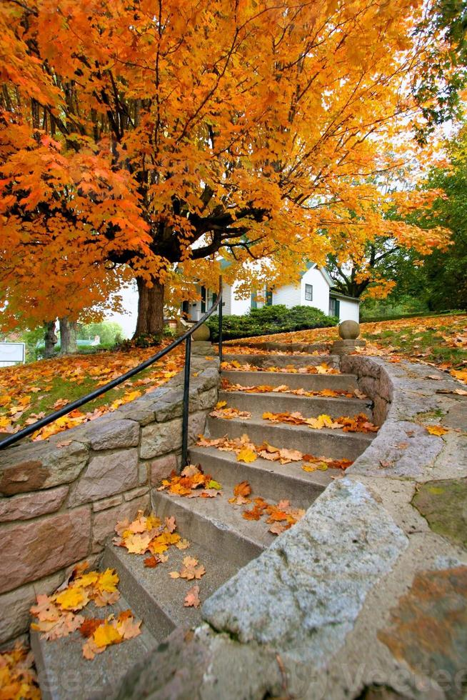 falla hus och trappor foto