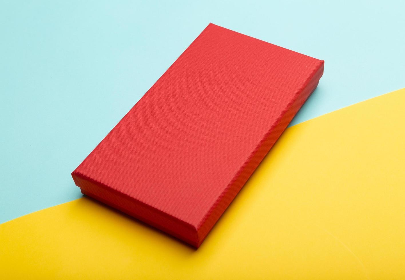 röd produktförpackningslåda foto