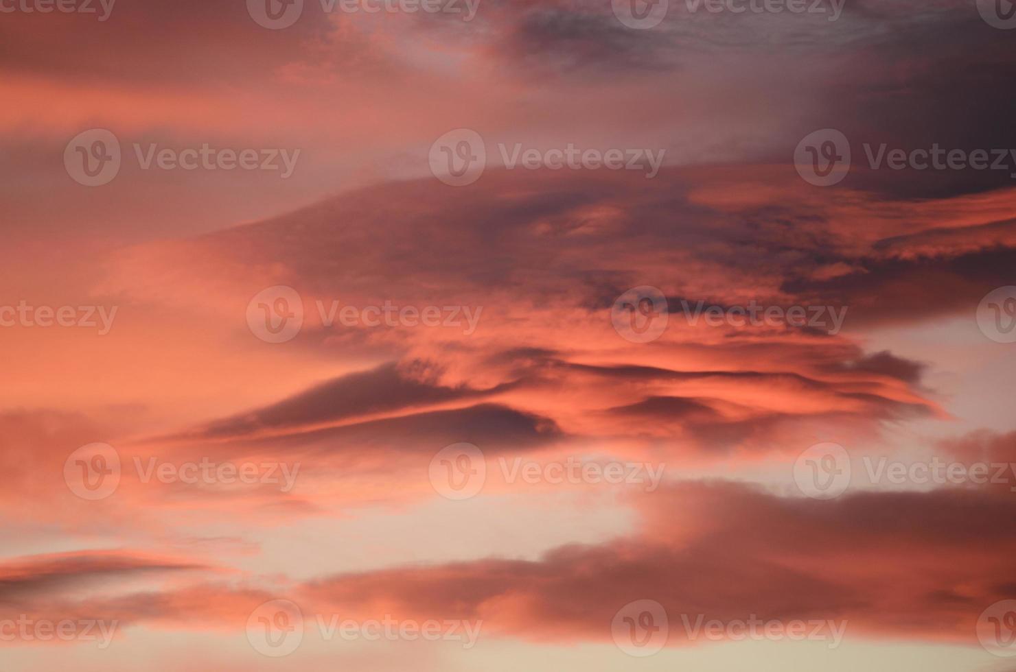 nubes de montaña foto