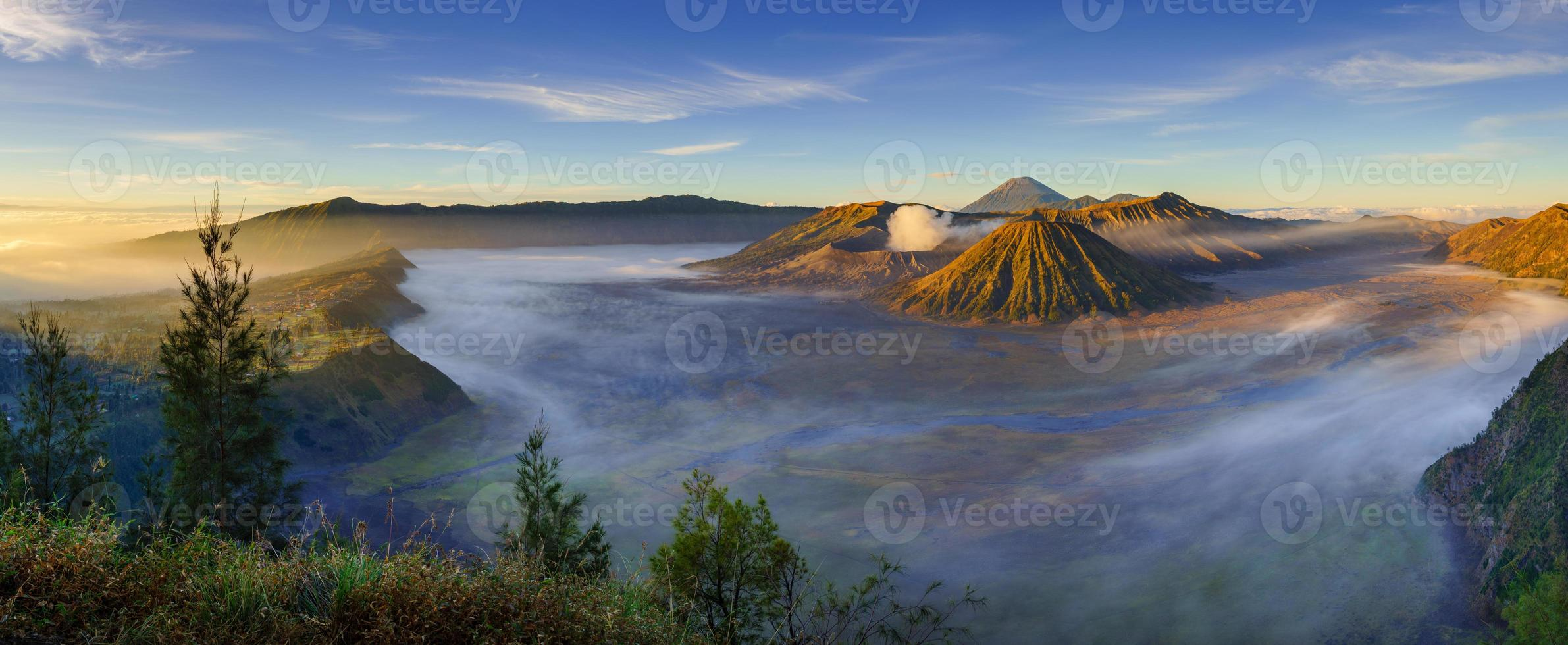 Mount Bromo vulkan, East Java, Surabuya, Indonesien foto