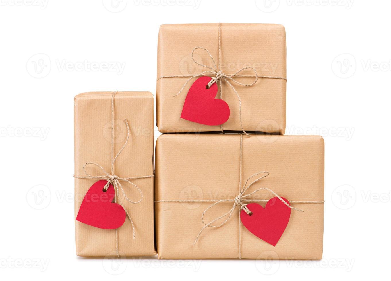 presentförpackningar hjärtformade etiketter foto