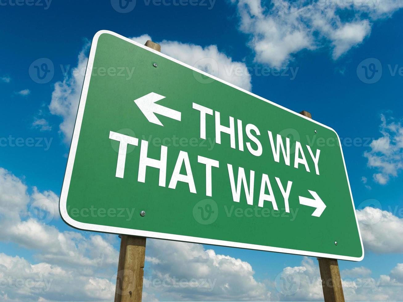 den här vägen foto