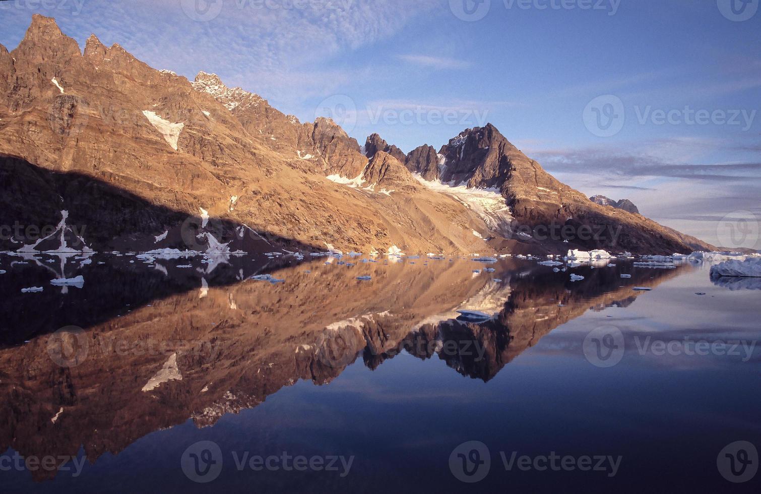 grönlands pilreflektion foto