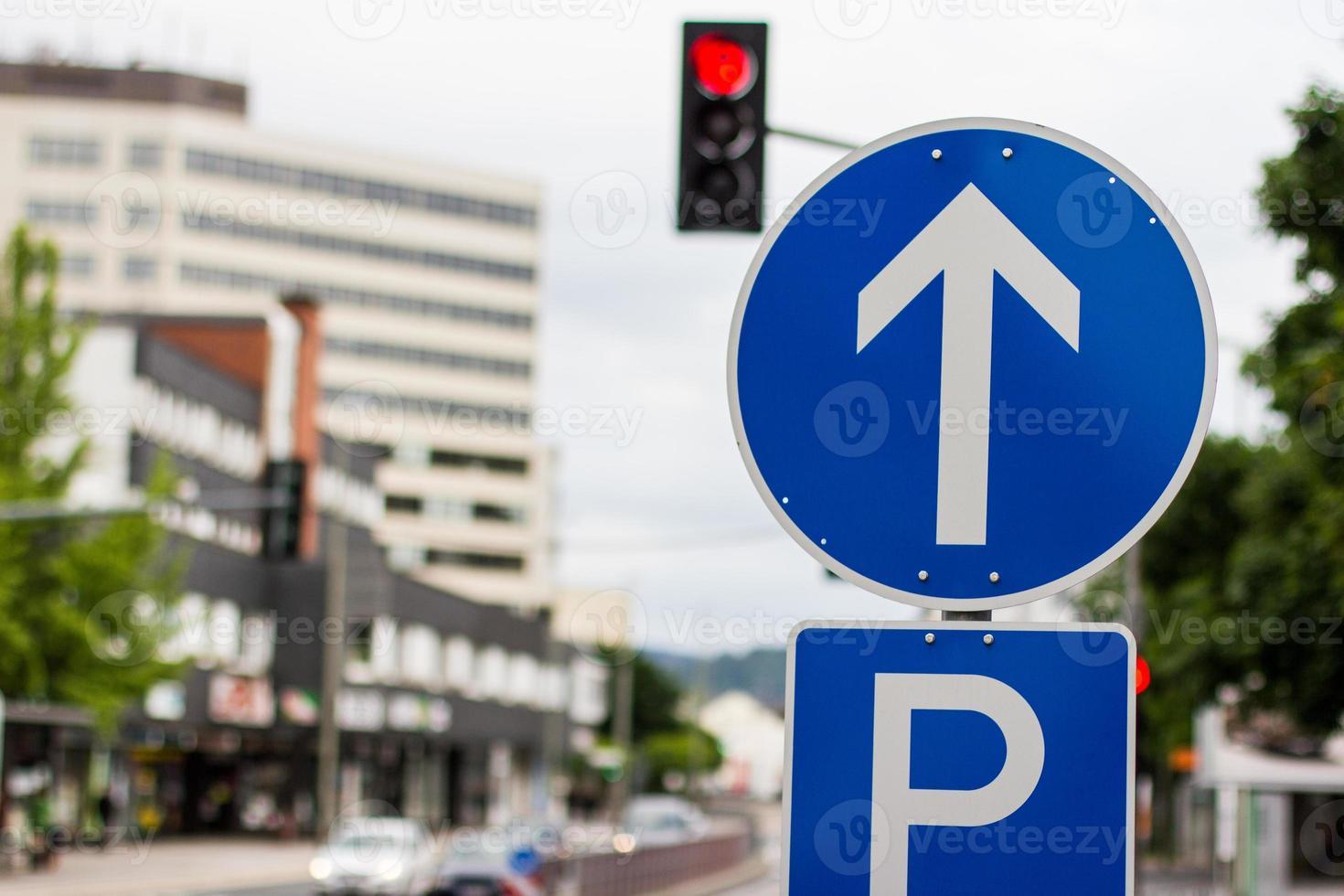 gatan pil tecken Tyskland foto