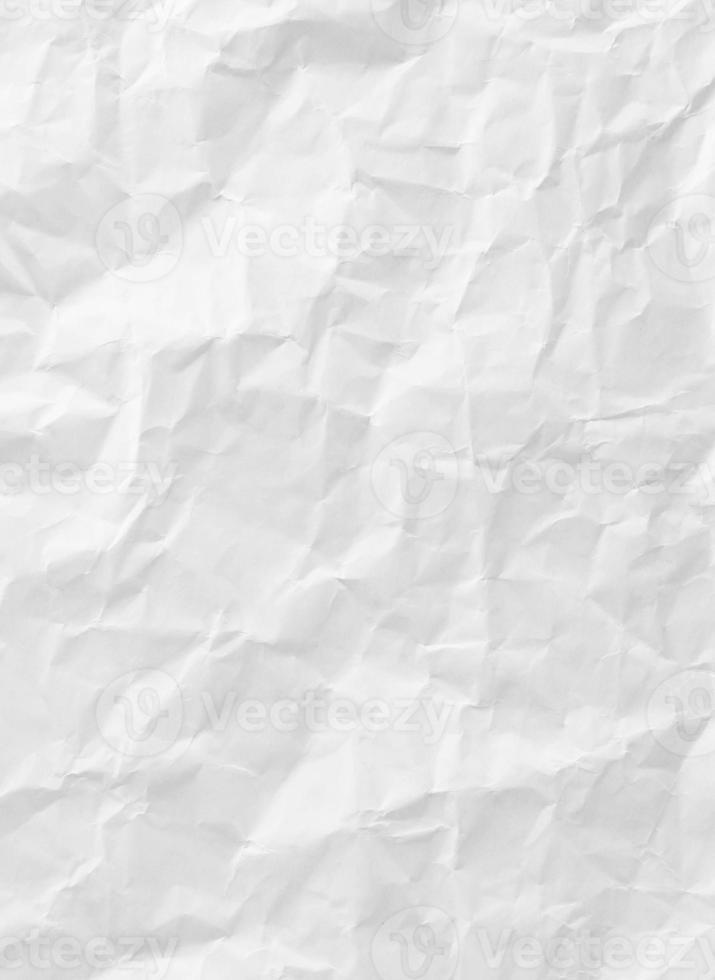 vit skrynkligt pappersstruktur foto