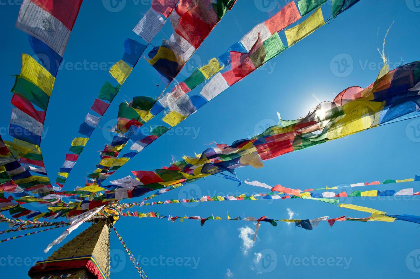buddhistkloster i nepal foto