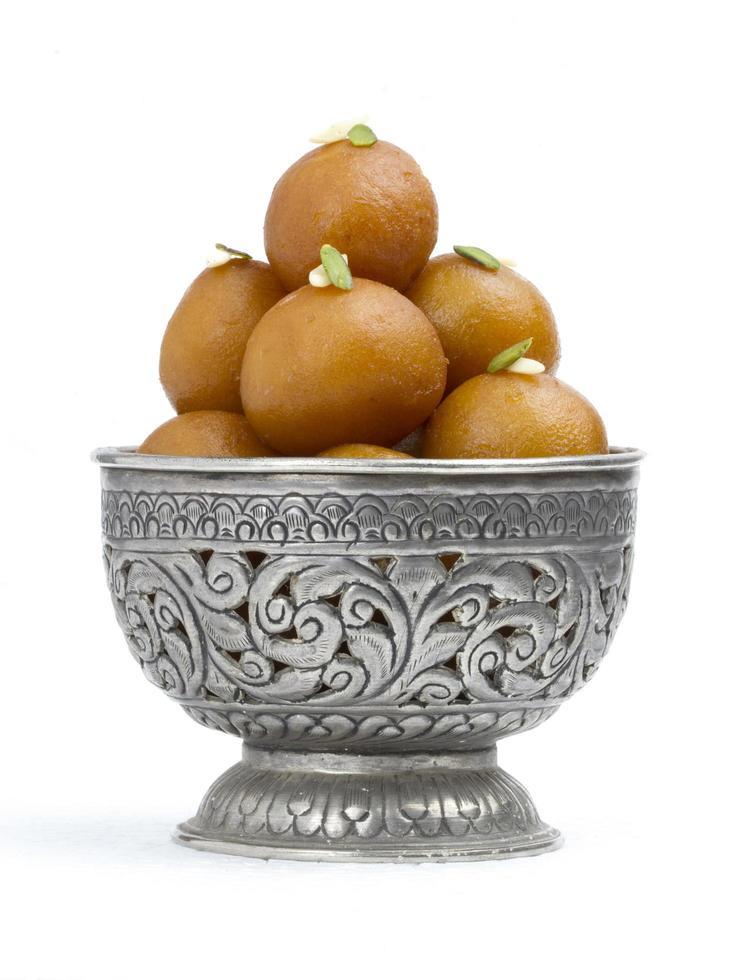 gulab jamun, indisk traditionell söt mat foto