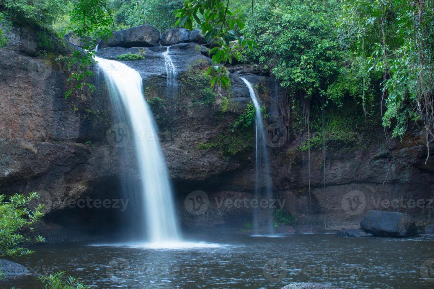 haew suwat vattenfall, Khaoyai National Park foto