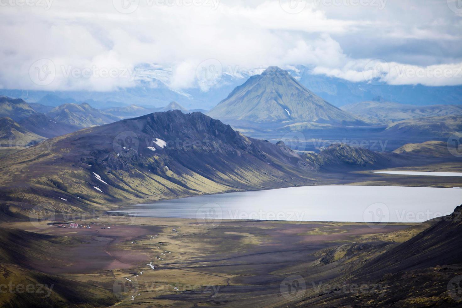vulkaniskt landskap - landmannalaugar, Island foto