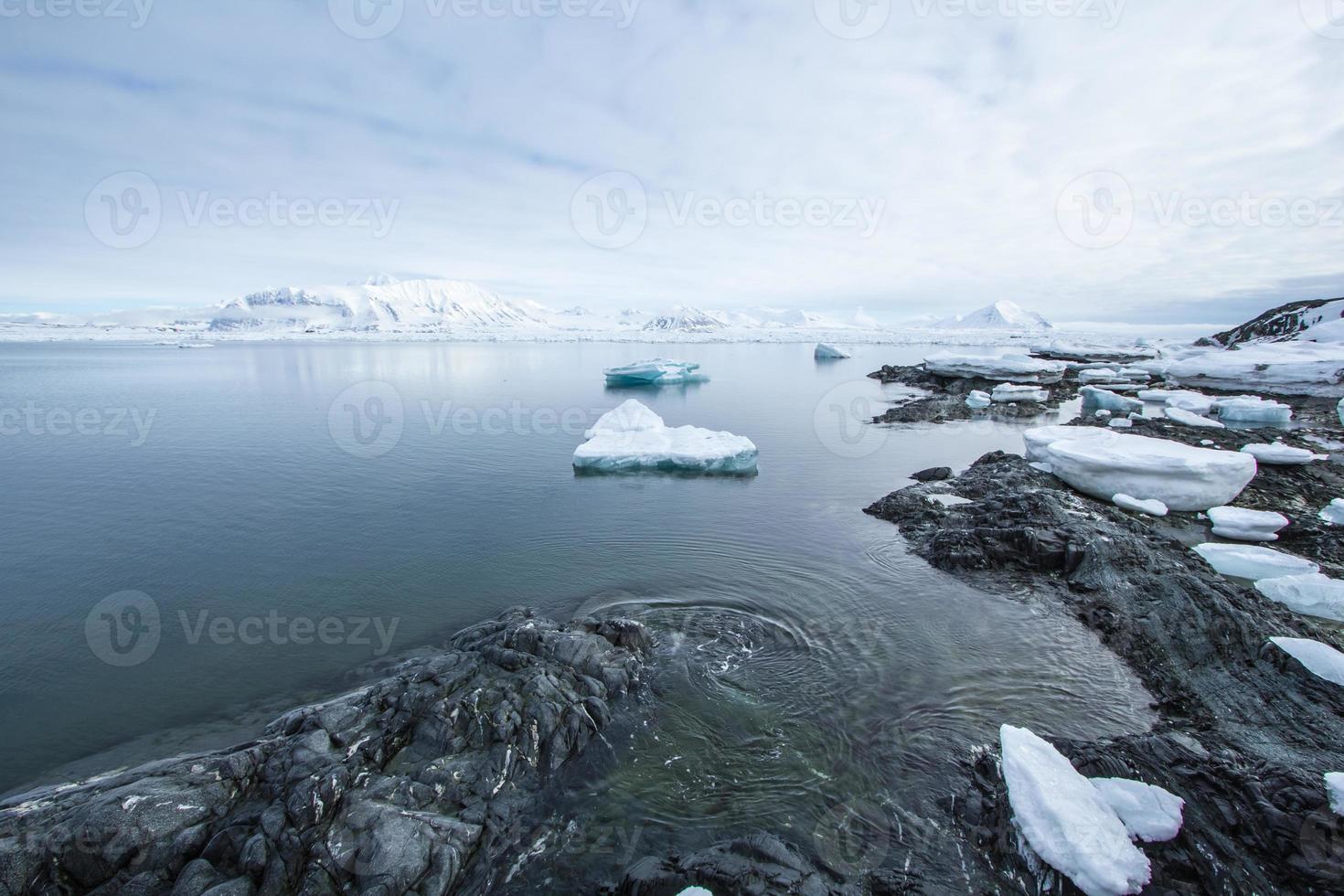 arktisk vår i spitsbergen foto