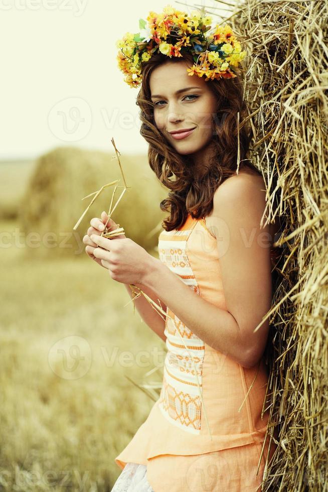 höstkvinna foto