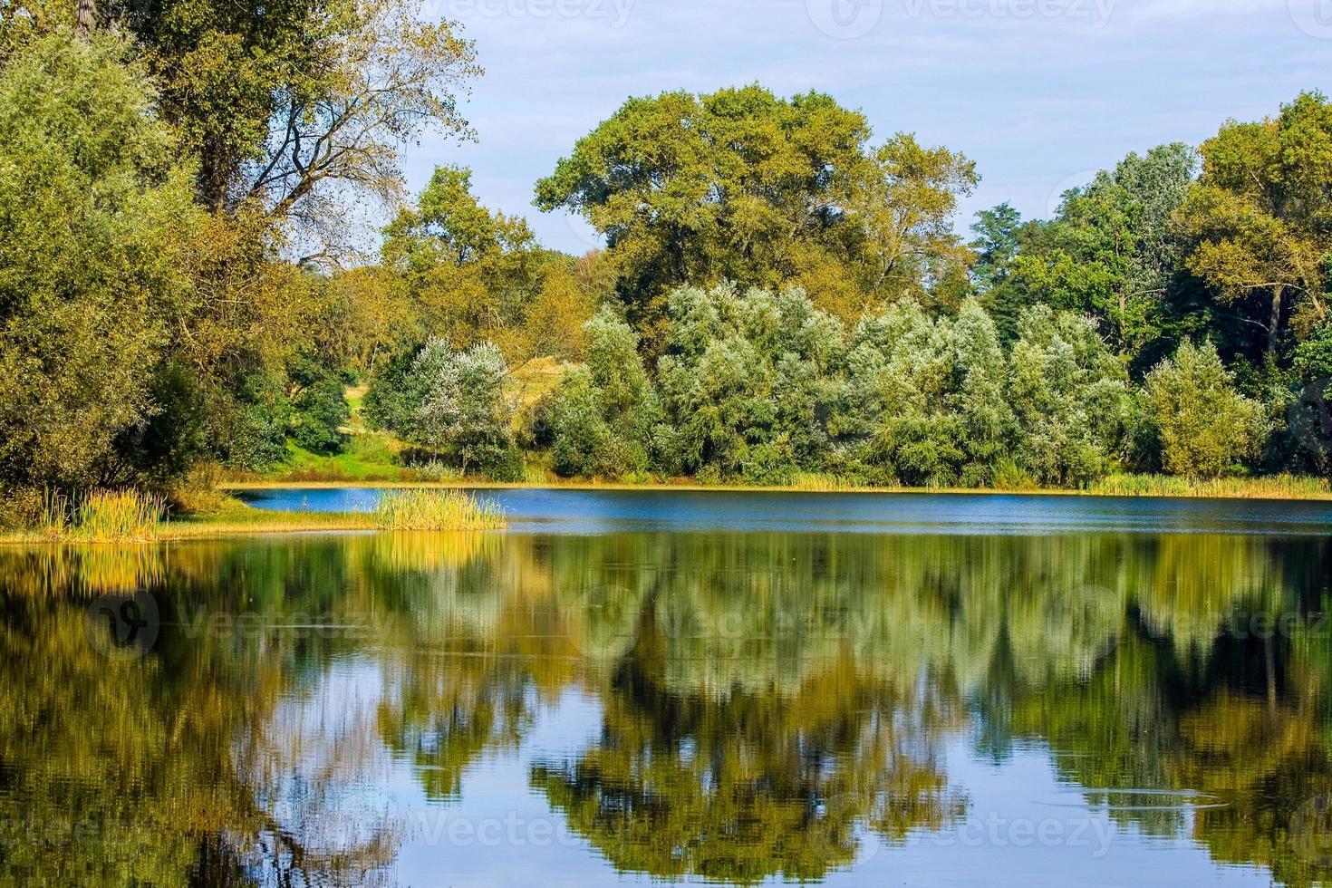 höstlandskap. parkera på hösten. höstens ljusa färger foto