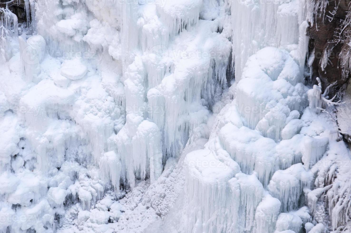 fryst vattenfall foto