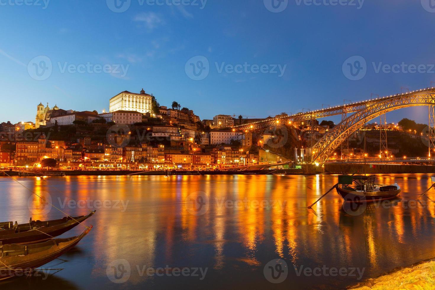 nattplats porto, portugal foto