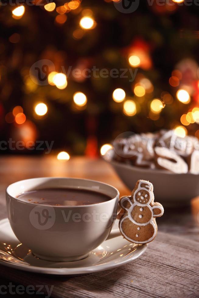 cappuccino med kex foto