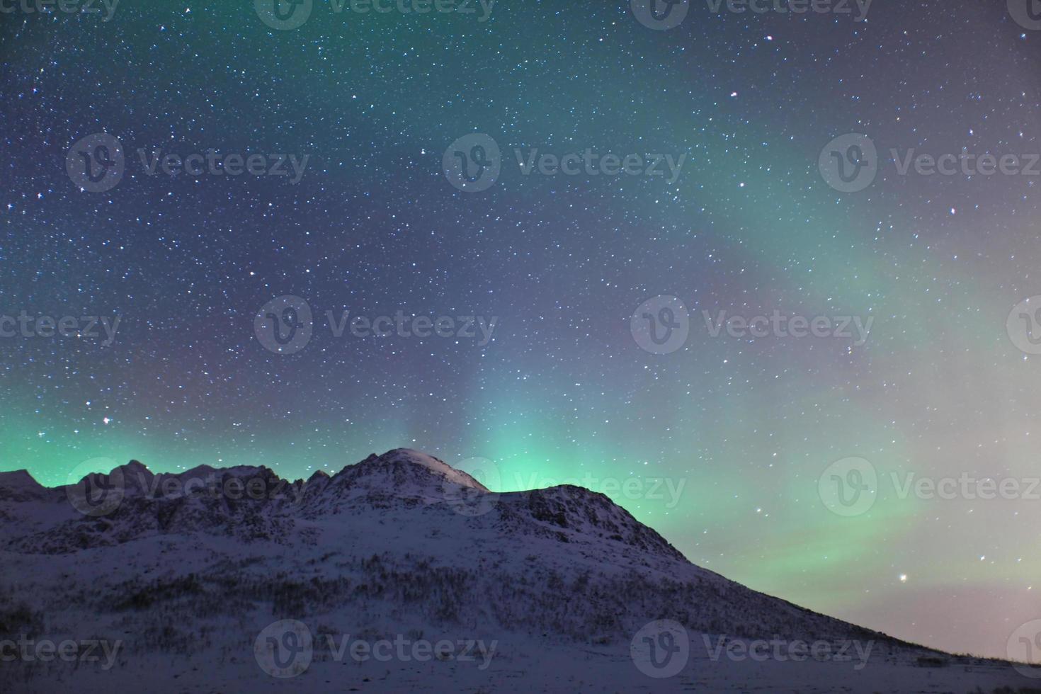 aurora borealis in lapland (norrsken) foto