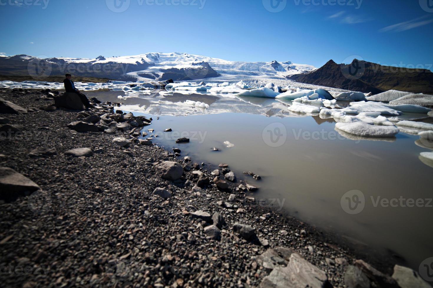 isbergslagunen, Island foto