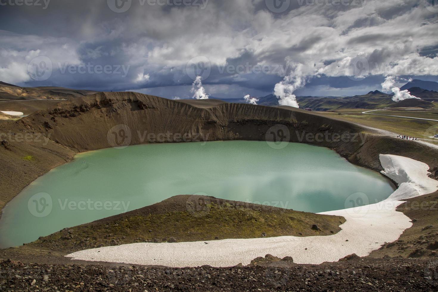 krater sjö viti på Island foto