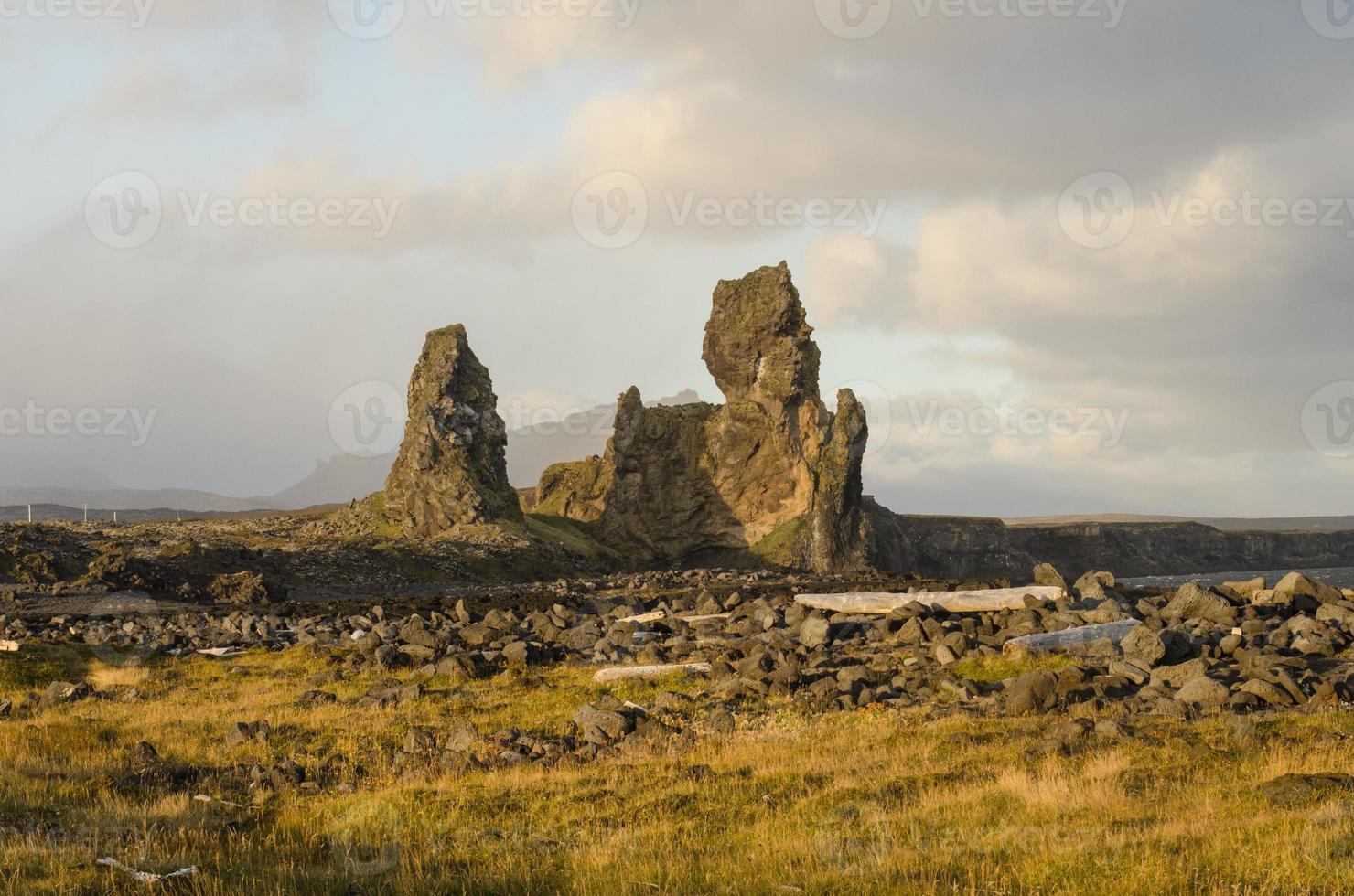 landskap på snaefellsness halvön, Island foto