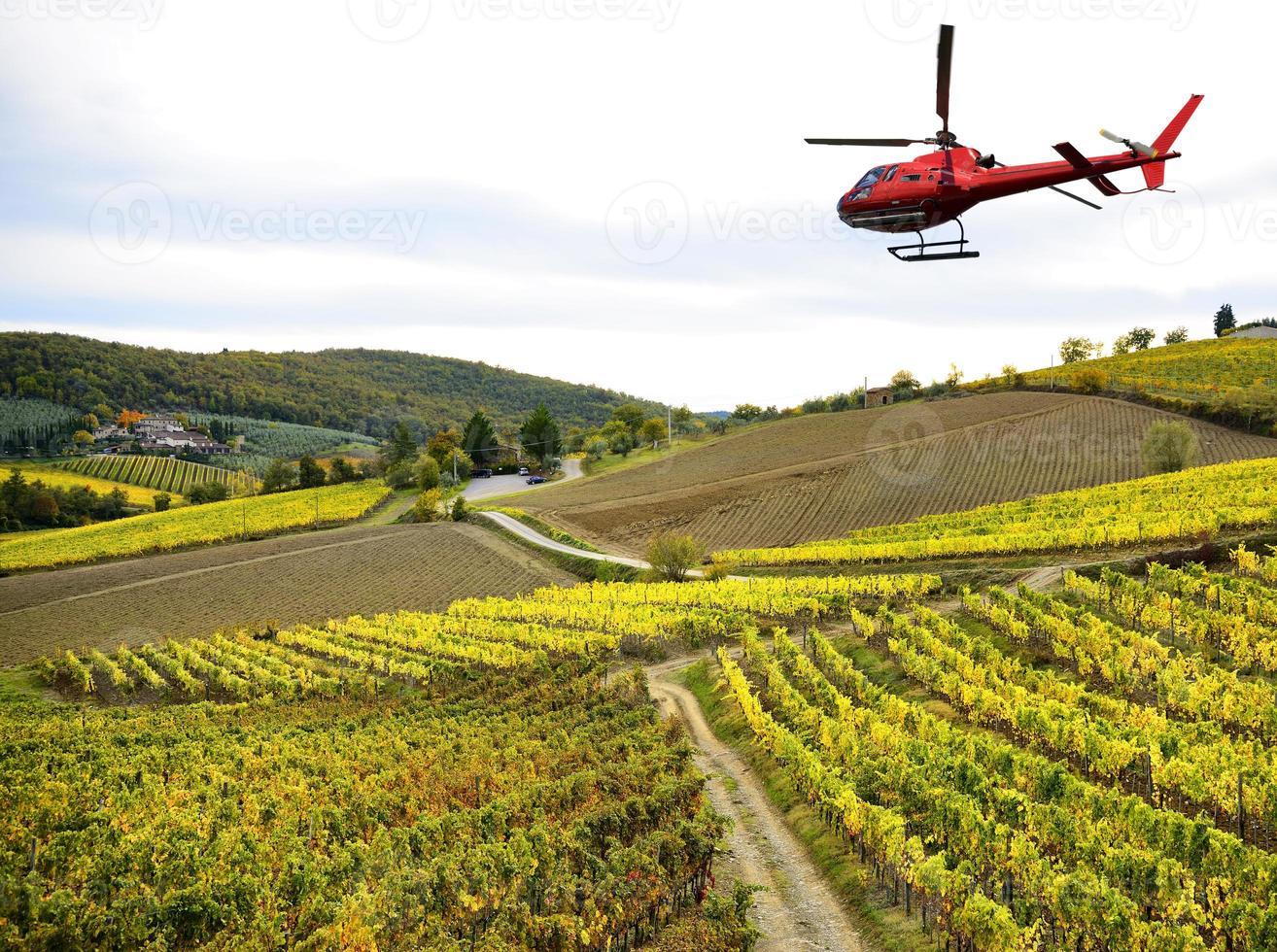 helikoptertur i Toscana foto