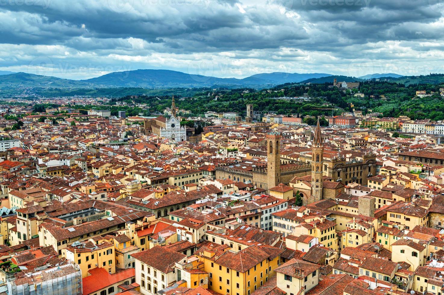 vy över Florens, Italien foto