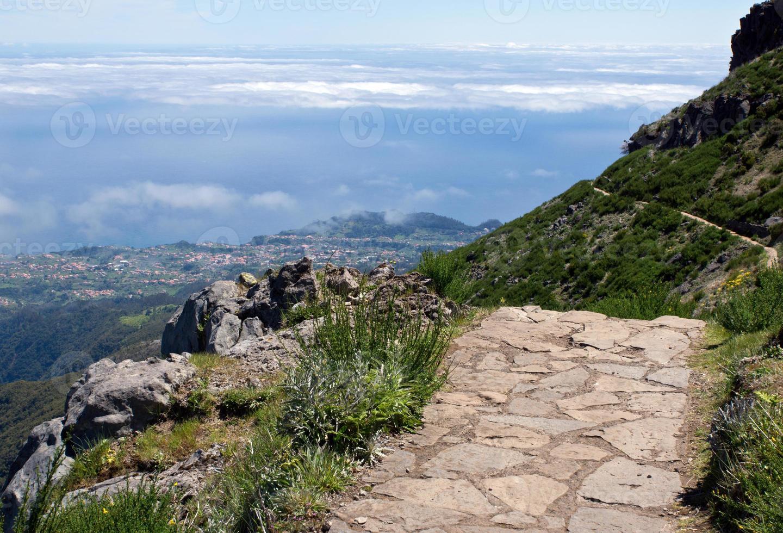 promenader på Pico Ruivo - Madeira Island foto
