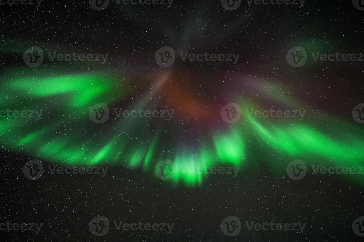 aurora över reykjavik foto