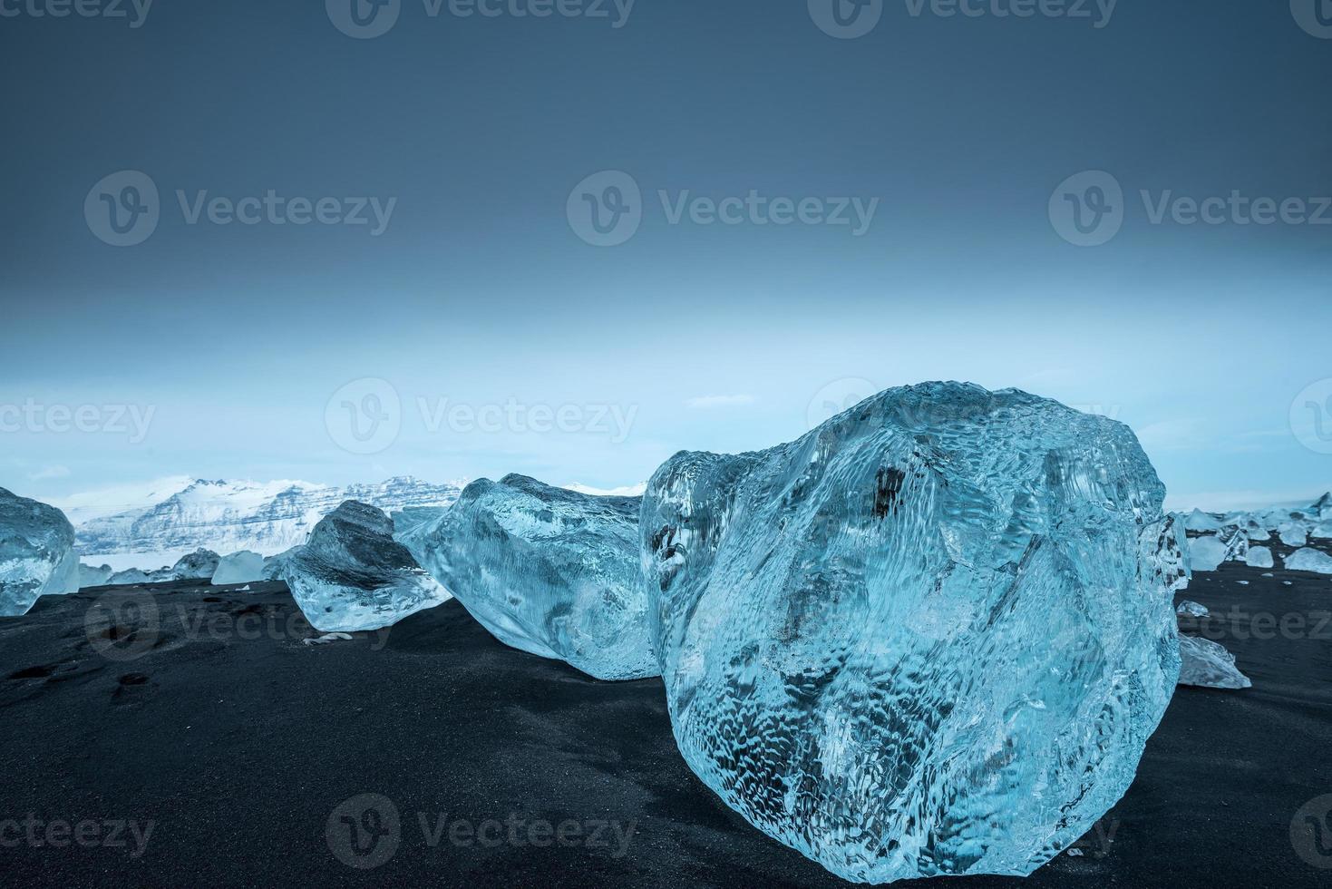 isberg vid Jokulsarlon på södra Island foto