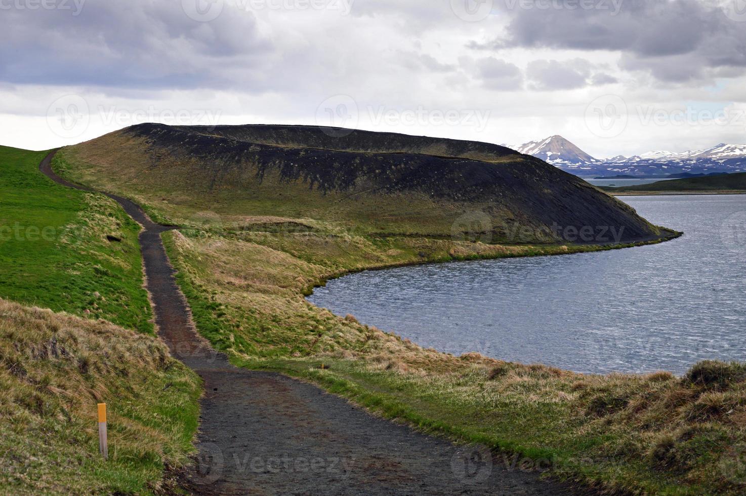 vulkanisk krater på Island foto
