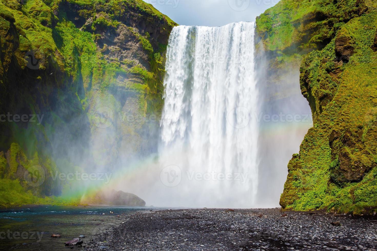 Vattenfallet på Island - skogafoss foto