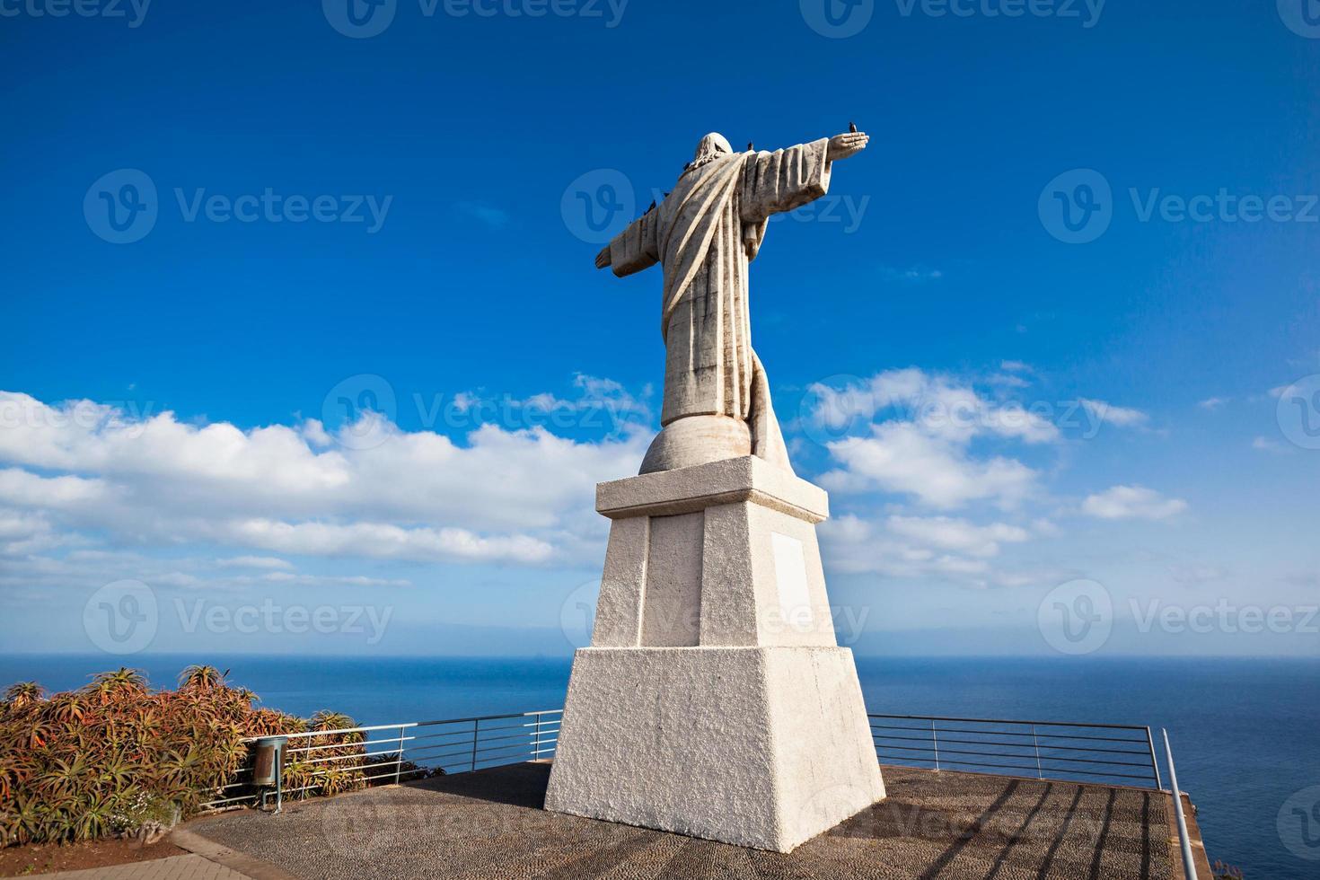 Kristus kungstatyn på ön Madeira, Portugal foto
