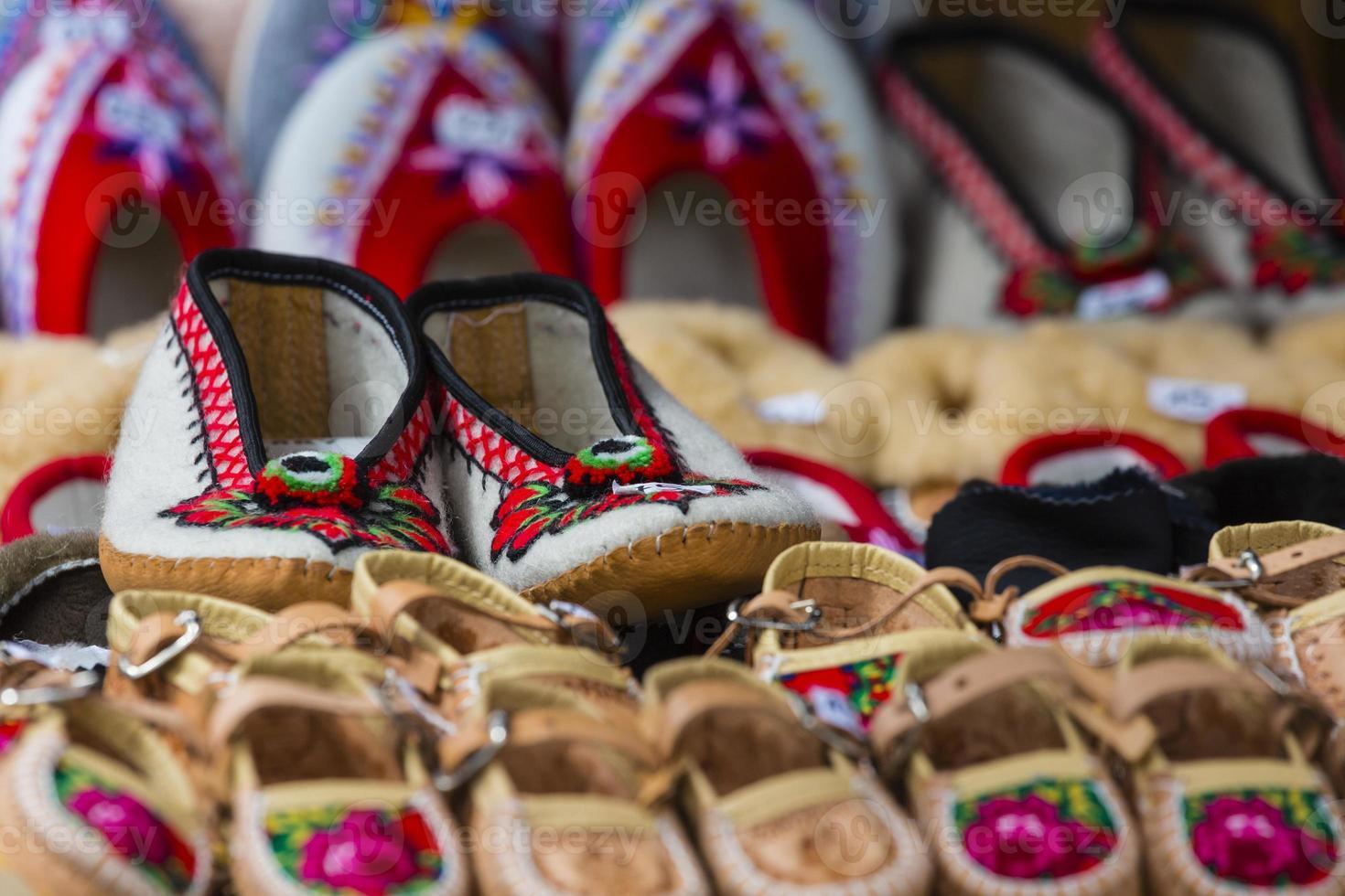 traditionella polska läder bergskängor för barn som kallas 'k foto