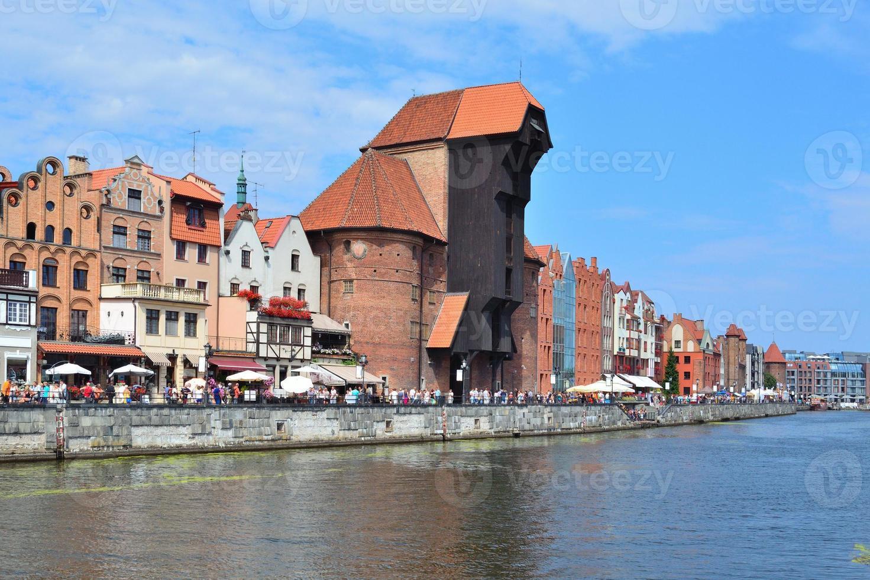 vacker kaj i Gdansk foto