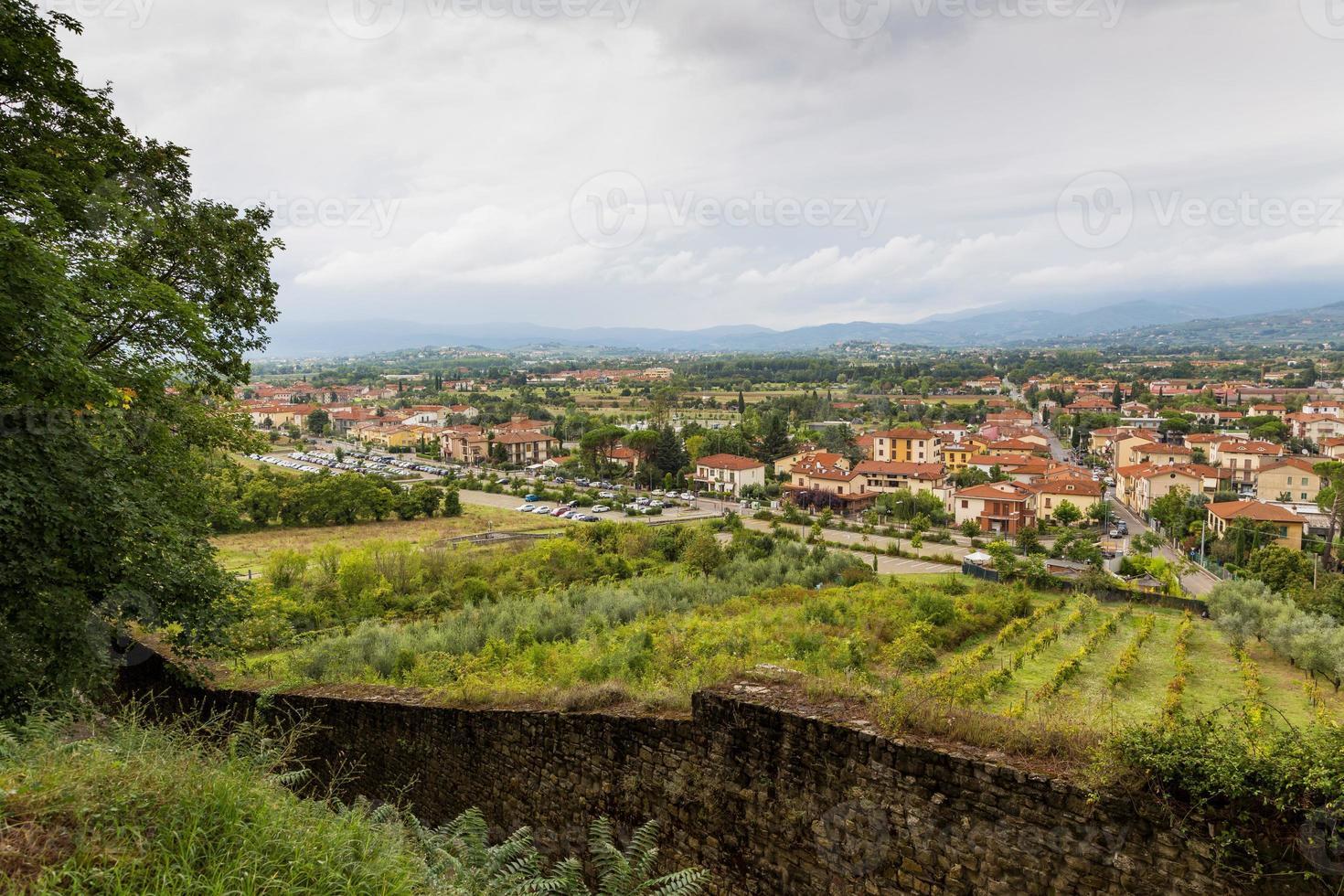 medeltida stad arezzo, Toscana, Italien foto