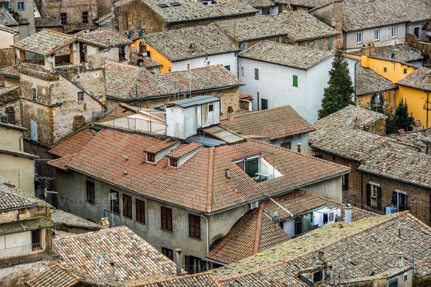 utsikt över en by i Toscana, Italien foto