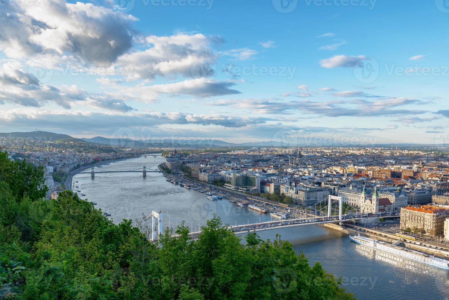panoramautsikt över Budapest foto