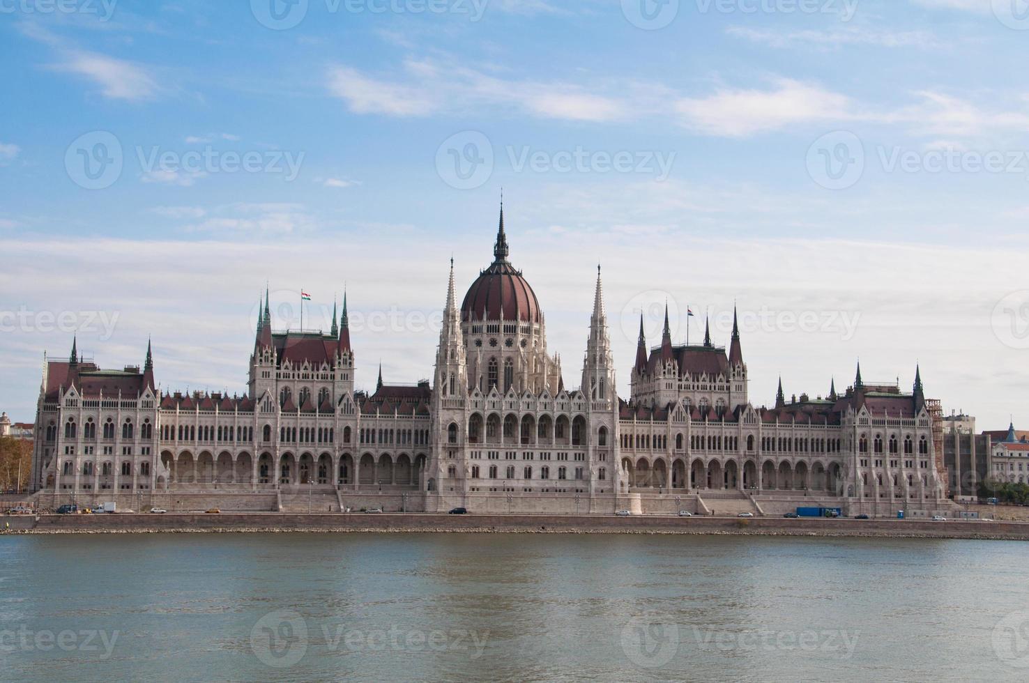 parlamentets byggnad i Budapest, Ungern foto