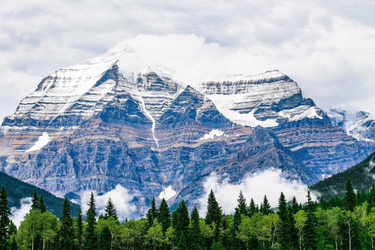 naturskön bergsutsikt foto