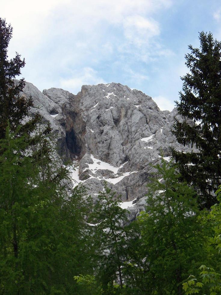 bergslandskap i triglav nationalpark foto