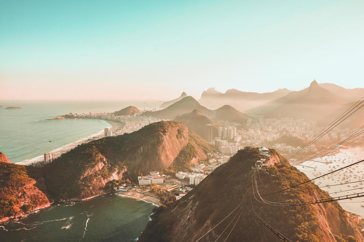 Flygfoto över Rio foto