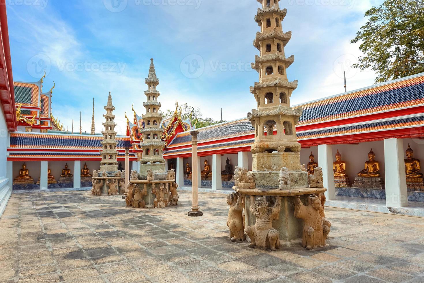 wat pho (pho tempel) i bangkok, Thailand foto